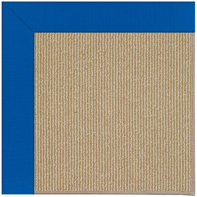 Zoe Machine Tufted Reef Blue/Brown Indoor/Outdoor Area Rug Rug Size: Round 12 x 12
