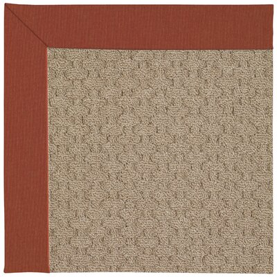 Zoe Grassy Mountain Machine Tufted Persimmon/Brown Indoor/Outdoor Area Rug Rug Size: Square 4