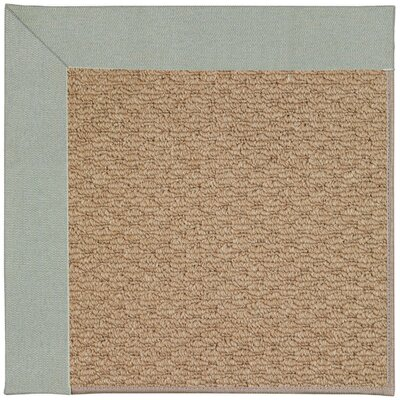 Zoe Machine Tufted Marine Blue/Brown Indoor/Outdoor Area Rug Rug Size: Round 12 x 12