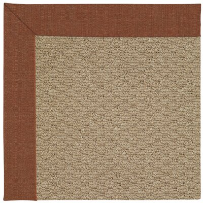 Zoe Machine Tufted Dried Brown Indoor/Outdoor Area Rug Rug Size: Square 4