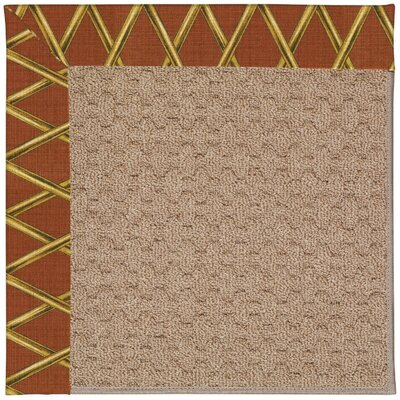 Zoe Grassy Mountain Machine Tufted Cinnabar Honey/Brown Indoor/Outdoor Area Rug Rug Size: Round 12 x 12