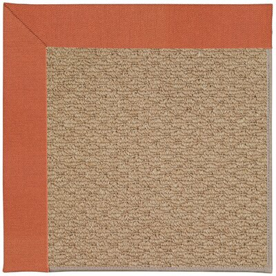 Zoe Machine Woven Clay/Brown Indoor/Outdoor Area Rug Rug Size: Square 6