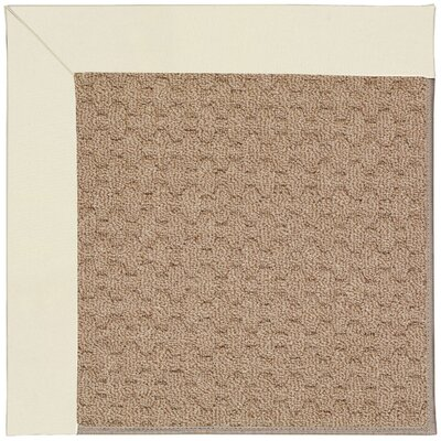 Zoe Grassy Mountain Machine Tufted Alabaster/Brown Indoor/Outdoor Area Rug Rug Size: Square 4