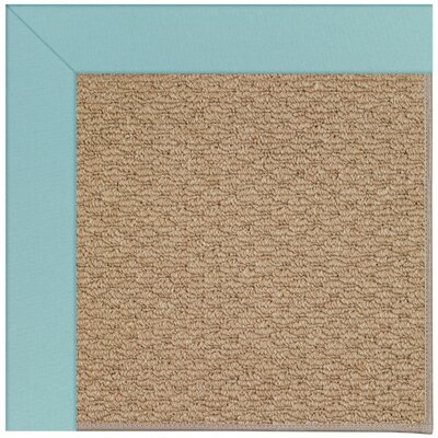 Zoe Machine Tufted Seafaring Blue/Brown Indoor/Outdoor Area Rug Rug Size: Square 4
