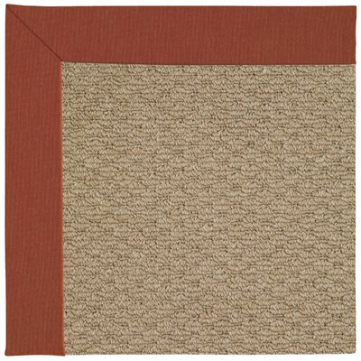 Zoe Machine Tufted Red/Brown Indoor/Outdoor Area Rug Rug Size: Square 10