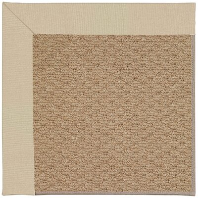 Zoe Machine Tufted Ecru/Brown Indoor/Outdoor Area Rug Rug Size: Square 4'