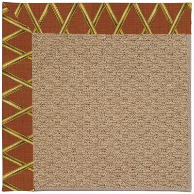 Zoe Machine Tufted Cinnabar Honey/Brown Indoor/Outdoor Area Rug Rug Size: Square 6