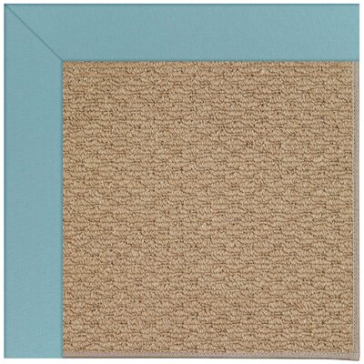 Zoe Machine Tufted Bright Blue/Brown Indoor/Outdoor Area Rug Rug Size: Square 10