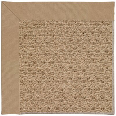 Zoe Machine Tufted Biscuit and Beige Indoor/Outdoor Area Rug Rug Size: Round 12 x 12