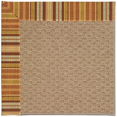 Zoe Machine Tufted Button Mushroom/Brown Indoor/Outdoor Area Rug Rug Size: Rectangle 8 x 10