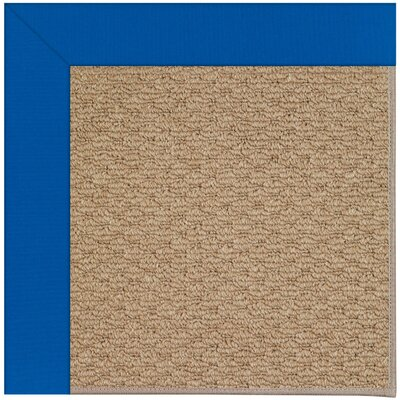 Zoe Machine Woven Blue/Brown Indoor/Outdoor Area Rug Rug Size: Square 10