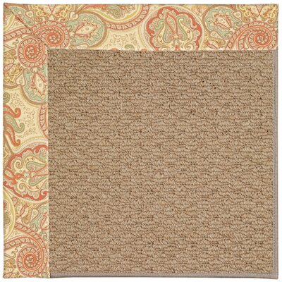 Zoe Machine Tufted Auburn/Brown Indoor/Outdoor Area Rug Rug Size: Square 6