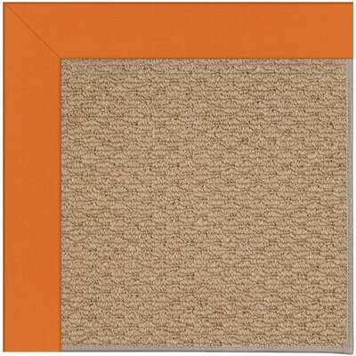 Zoe Machine Tufted Clementine/Brown Indoor/Outdoor Area Rug Rug Size: Round 12 x 12