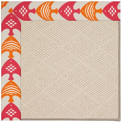 Zoe Beige Indoor/Outdoor Area Rug Rug Size: 5 x 8