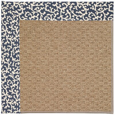 Zoe Machine Tufted Midnight/Brown Indoor/Outdoor Area Rug Rug Size: Square 6