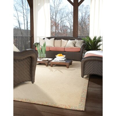 Zoe Beige Indoor/Outdoor Area Rug Rug Size: Square 10