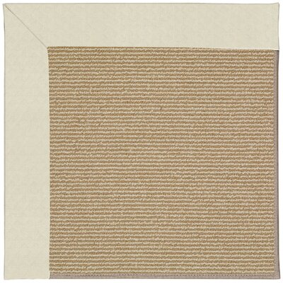 Zoe Machine Tufted Cream/Brown Indoor/Outdoor Area Rug Rug Size: Round 12 x 12