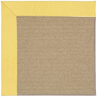 Zoe Machine Tufted Yellow/Brown Indoor/Outdoor Area Rug Rug Size: 10' x 14'
