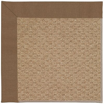 Zoe Machine Tufted Cafe/Brown Indoor/Outdoor Area Rug Rug Size: Square 6'