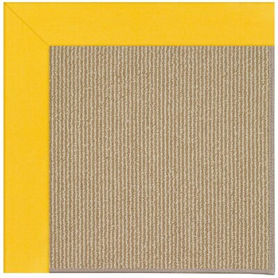 Zoe Machine Tufted Summertime Yellow/Brown Indoor/Outdoor Area Rug Rug Size: Square 10