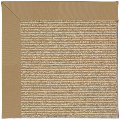 Zoe Machine Tufted Light Gold Indoor/Outdoor Area Rug Rug Size: Square 10