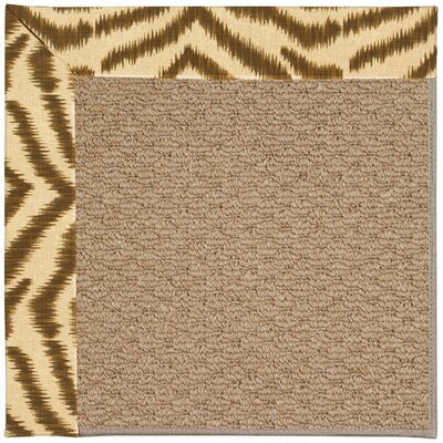 Zoe Machine Tufted Tawny/Brown Indoor/Outdoor Area Rug Rug Size: Square 8