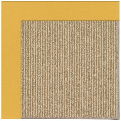 Zoe Machine Tufted Yellow/Brown Indoor/Outdoor Area Rug Rug Size: 9 x 12