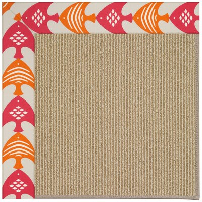 Zoe Machine Tufted Autumn/Brown Indoor/Outdoor Area Rug Rug Size: Rectangle 7 x 9