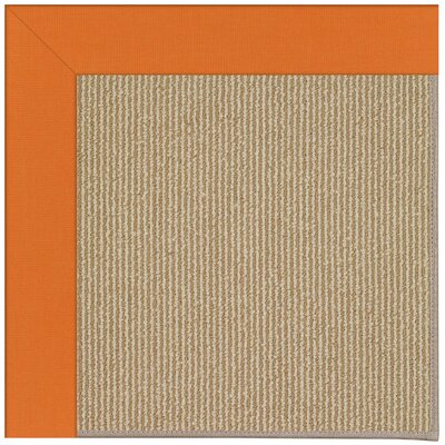 Zoe Machine Tufted Clementine/Brown Indoor/Outdoor Area Rug Rug Size: Square 4