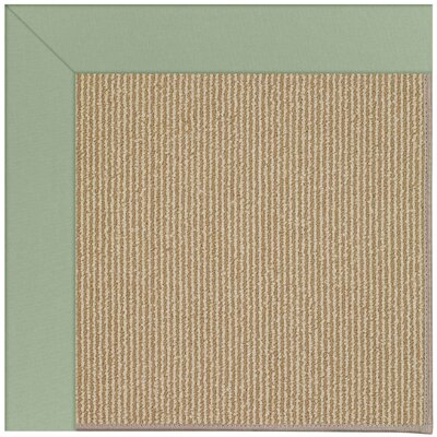 Zoe Machine Tufted Light Jade and Beige Indoor/Outdoor Area Rug Rug Size: Square 10