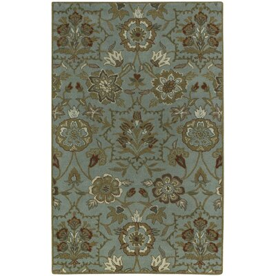Garden Terrace Cinnamon Blooms/Geometric Area Rug Rug Size: Rectangle 7 x 9