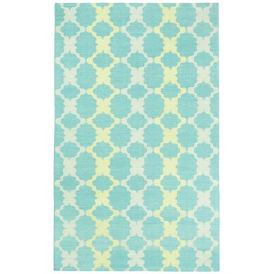 Coastline Blue / Gold Trellis Area Rug Rug Size: Rectangle 7 x 9