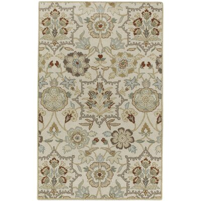 Garden Terrace Ocean White Blooms/Geometric Area Rug Rug Size: Rectangle 5 x 8