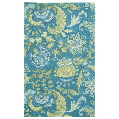 Ceylon Blue Area Rug Rug Size: Rectangle 5 x 8