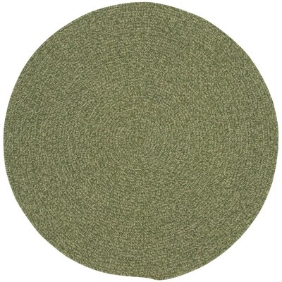 Manteo Deep Green Solid AreaRug Rug Size: Round 13