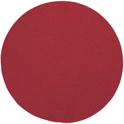 Matthias Red Solid Area Rug Rug Size: Round 13
