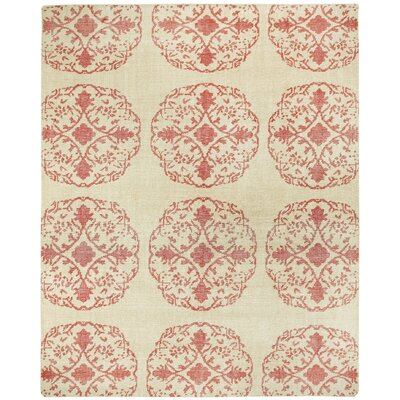 Classic Cardinal / Ivory Mandala Area Rug Rug Size: Rectangle 9 x 12
