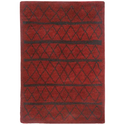 Nador Trellis Crimson Area Rug Rug Size: Rectangle 53 x 76