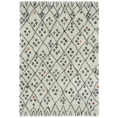 Nador Trellis Cobblestone Black/Cream Area Rug Rug Size: Rectangle 5'3