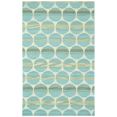 Bucine Blue Light Beige Trellis Area Rug Rug Size: Rectangle 5 x 8