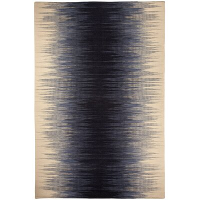Beam Ikat Navy Area Rug