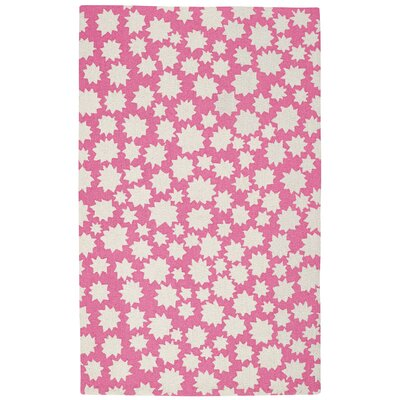 Ezequiel Pink/White Area Rug Rug Size: Rectangle 36 x 56