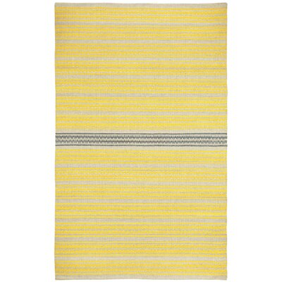 Barred Yellow Smoke Striped Area Rug Rug Size: 8 x 11