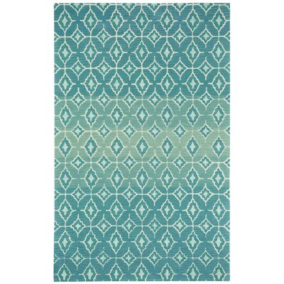 Rossio Azure Trellis Area Rug Rug Size: Rectangle 7 x 9