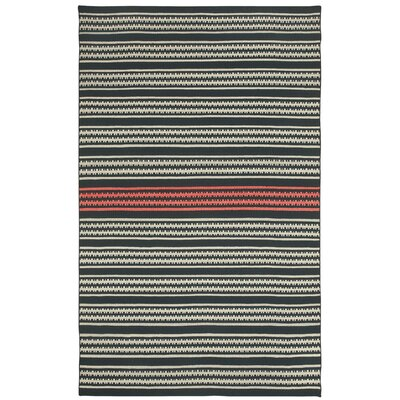 Barred Striped Gray Area Rug Rug Size: 8 x 11