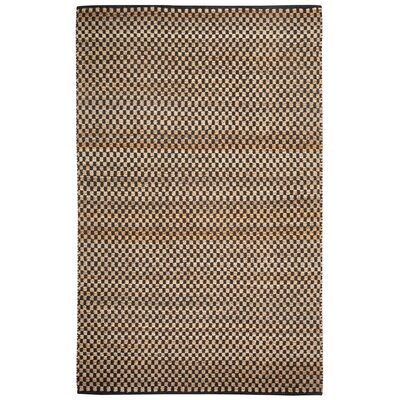 Ebony Checkered Brown Area Rug Rug Size: Rectangle 3 x 5