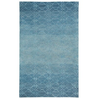 Gave Ocean Blue Area Rug Rug Size: Rectangle 7 x 9