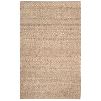 Ecru Checkered Beige Area Rug
