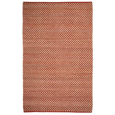 Clay Red / Ivoty Checkered Area Rug Rug Size: 5' x 8'