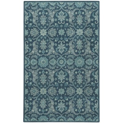 Huntington Blue Area Rug Rug Size: 5 x 8